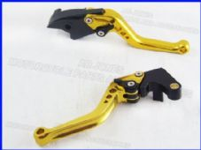Honda CBR 600 RR 2003-2006, CNC levers set short gold & black adjusters F29/Y688
